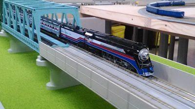 アメリカの蒸気機関車のNゲージ
